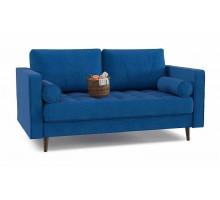 Диван прямой Dorian fresh com 31 синий-микровелюр
