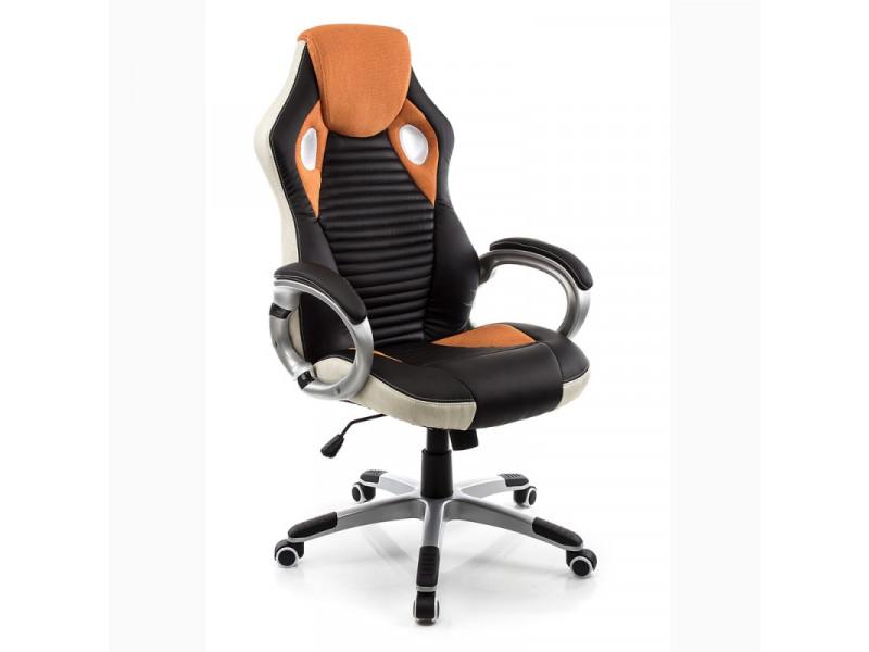 Геймерское кресло RT-377 черно-оранжевое