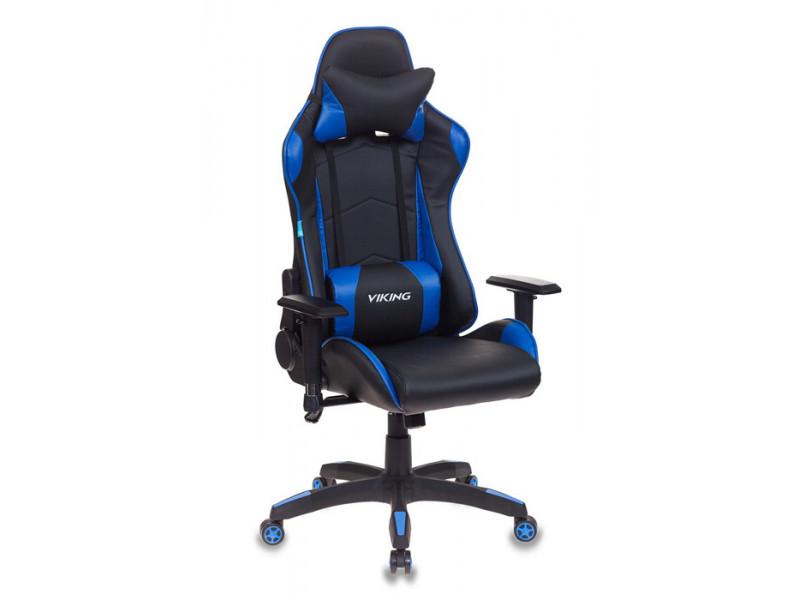 Игровое кресло Бюрократ CH-778/BL+BLUE синий/черный