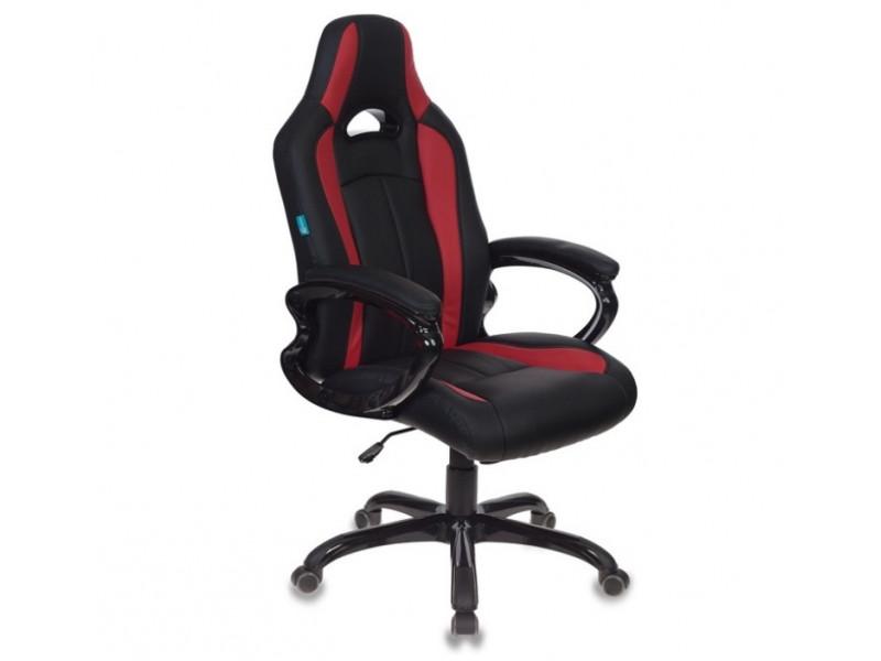 Игровое кресло Бюрократ CH-827/BL+RED черный/красный