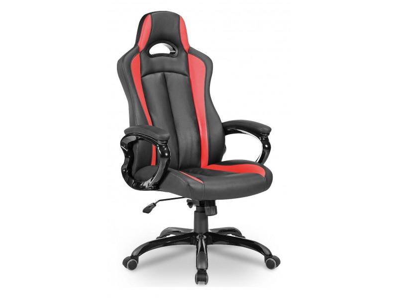 Игровое кресло Бюрократ CH-827/BL+RED синий/черный
