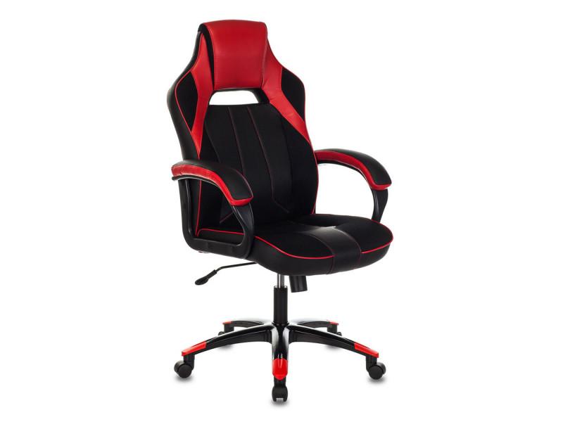 Игровое кресло Бюрократ VIKING 2/BL+RED черный/красный