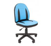 Кресло Chairman Kids 122 экопремиум голубой/черный