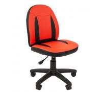 Кресло Chairman Kids 122 экопремиум красный/черный
