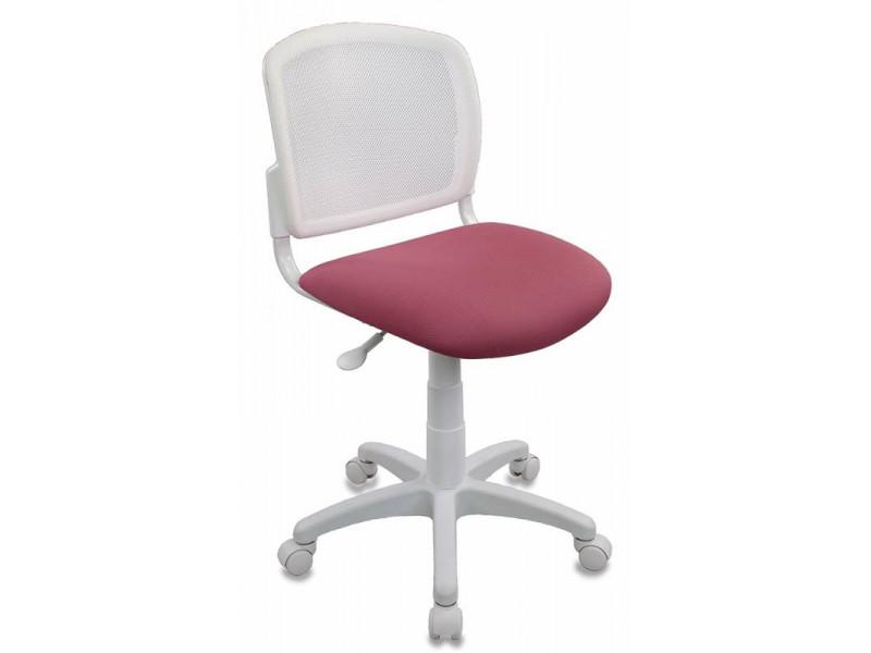 Кресло детское Бюрократ CH-W296NX/26-31 белый/розовый