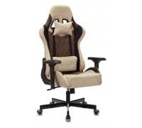Кресло игровое Бюрократ VIKING 7 KNIGHT Fabric коричневый