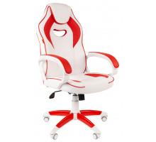 Кресло игровое Chairman Game 16 белый/красный