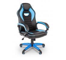 Кресло игровое Chairman Game 16 черный/голубой