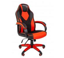 Кресло игровое Chairman Game 17 черный/красный