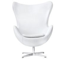 Дизайнерское кресло Egg chair (Arne Jacobsen Style) A219 whitePU