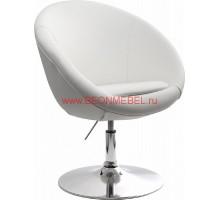 Дизайнерское кресло из экокожи A684 белое