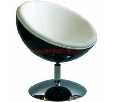Дизайнерское кресло Lotus (черное с белым) 636