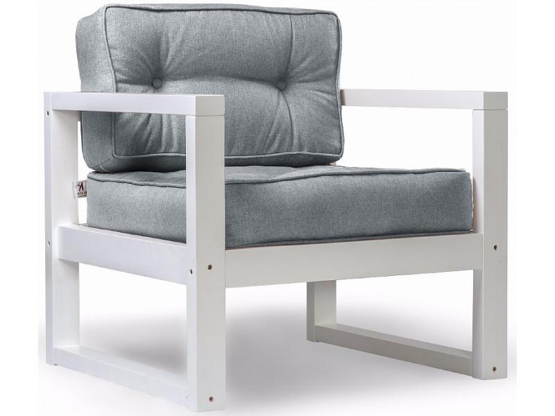 Кресло Астер серый рогожка сосна