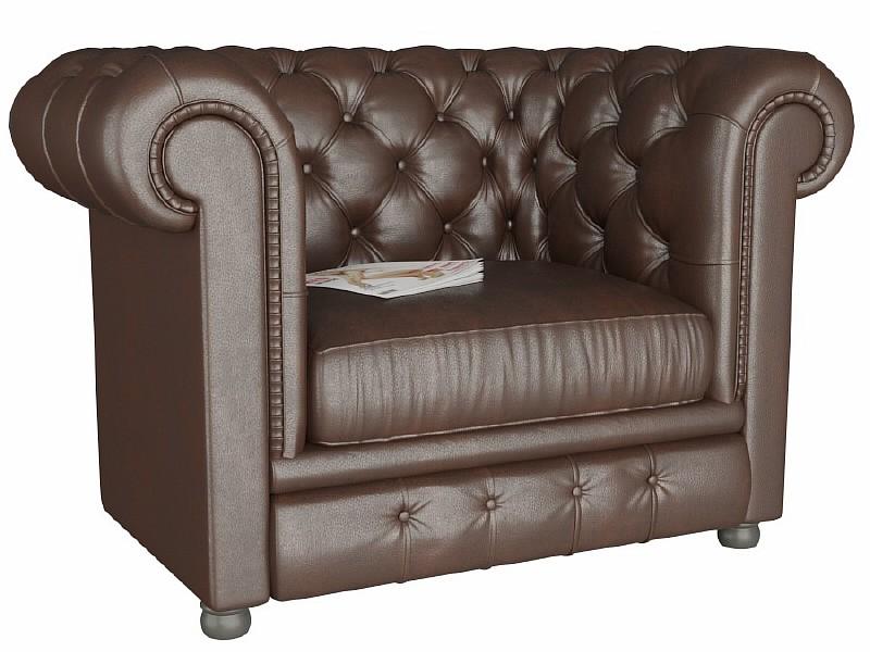 Кресло Честер (Честерфилд) коричневый