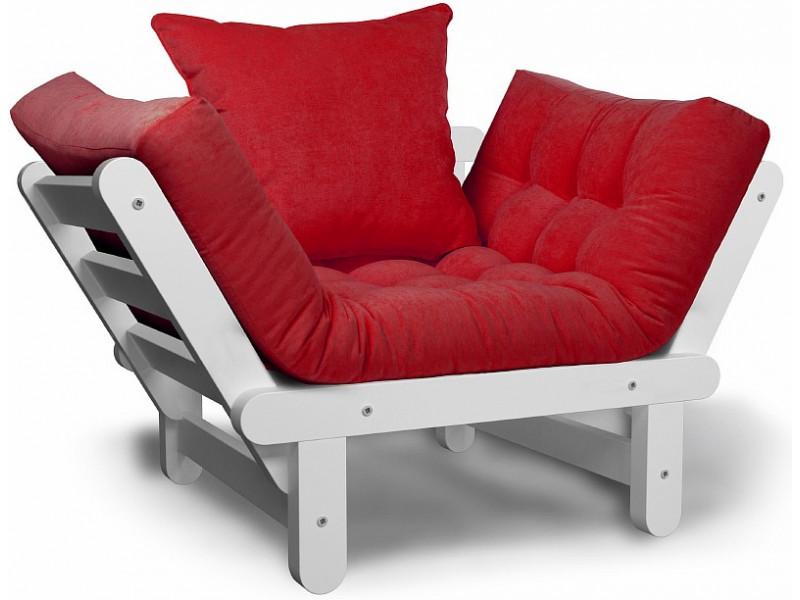 Кресло Сламбер красный сосна