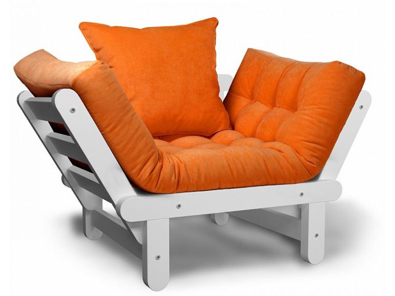 Кресло Сламбер оранжевый сосна