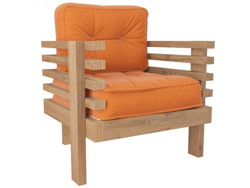 Кресло Стоун оранжевый сосна
