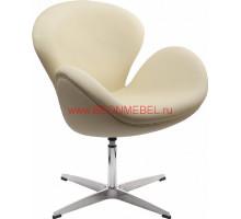 Кресло Swan (Arne Jacobsen) A062 бежевая экокожа