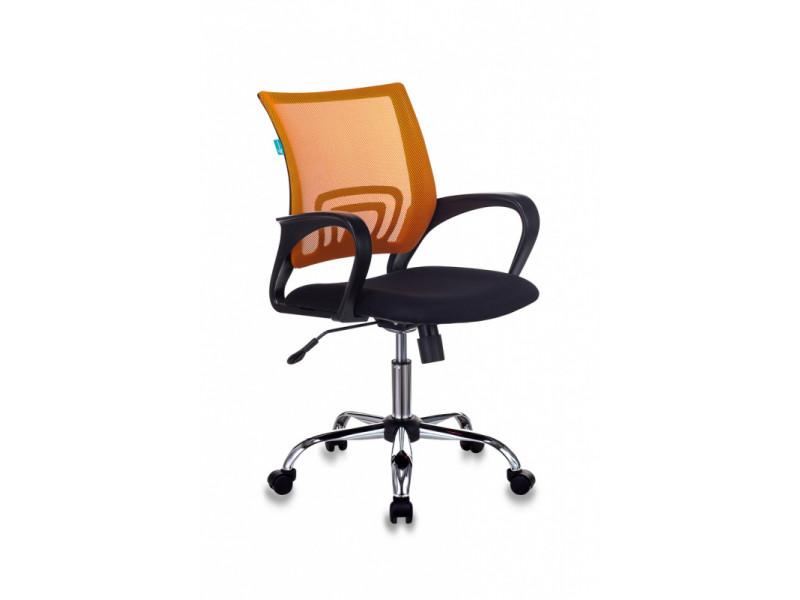 Кресло Бюрократ CH-695NSL оранжевый/черный сетка/ткань