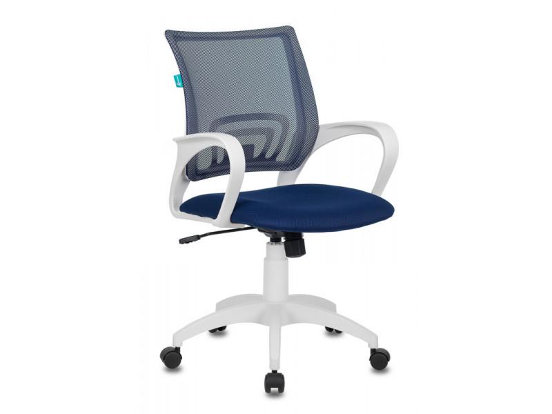 Кресло Бюрократ CH-W695N темно-синий сетка/ткань пластик белый