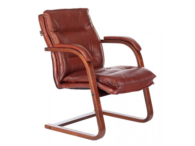 Кресло Бюрократ T-9927WALNUT-AV светло-коричневый кожа