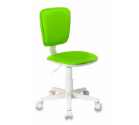 Кресло детское Бюрократ CH-W204NX салатовый 15-118 пластик белый