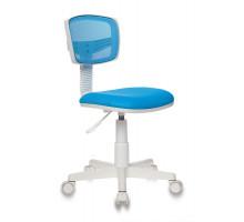Кресло детское Бюрократ CH-W299 голубой TW-31 TW-55 пластик белый