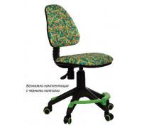 Кресло детское Бюрократ KD-4-F зеленый карандаши