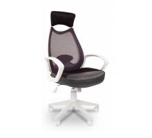 Кресло для руководителя Chairman 840 серый/белый