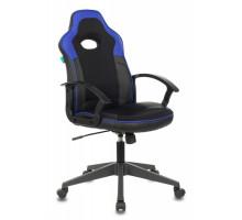 Кресло игровое Бюрократ VIKING-11 черный/синий искусст.кожа/ткань