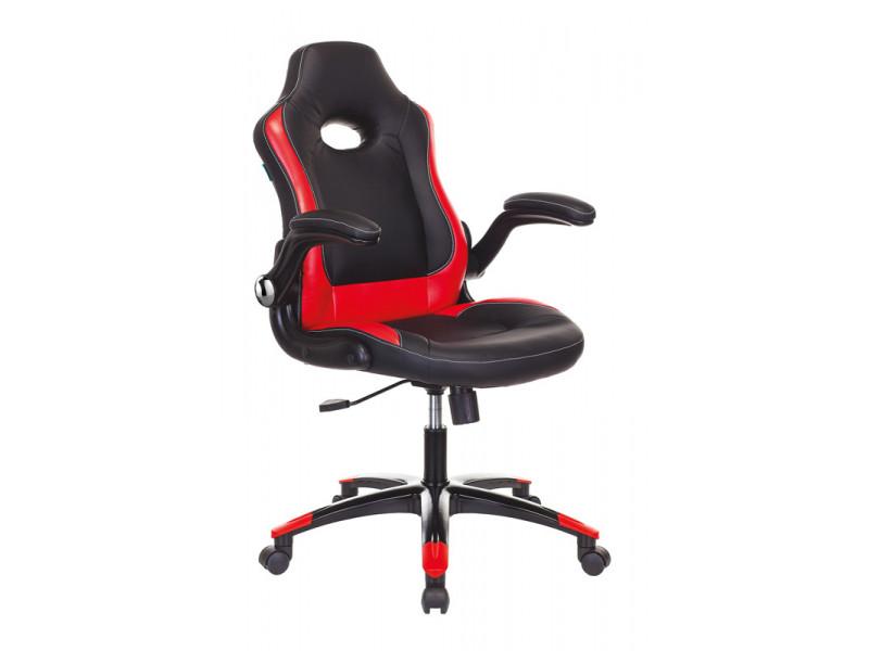 Кресло игровое Бюрократ VIKING-1N черный/красный искусственная кожа