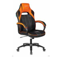 Кресло игровое Бюрократ VIKING 2 AERO черный/оранжевый искусст.кожа/ткань