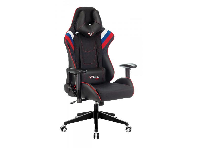 Кресло игровое Бюрократ VIKING 4 AERO белый/синий/красный искусст.кожа/ткань