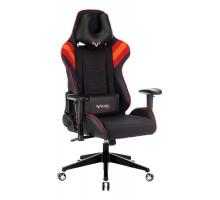 Кресло игровое Бюрократ VIKING 4 AERO черный/красный искусст.кожа/ткань