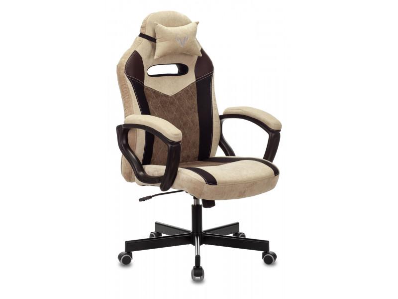 Кресло игровое Бюрократ VIKING 6 KNIGHT Fabric коричневый