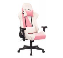 Кресло игровое Бюрократ VIKING X Fabric белый/розовый