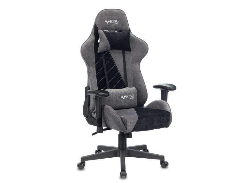 Кресло игровое Бюрократ VIKING X Fabric серый/черный
