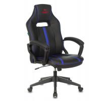 Кресло игровое Бюрократ VIKING ZOMBIE A3 черный/синий искусственная кожа