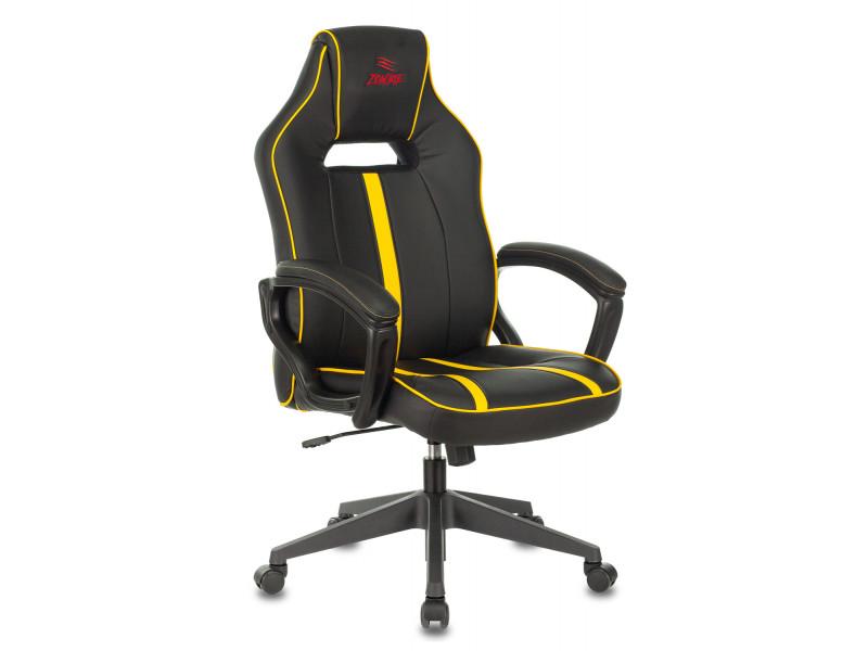 Кресло игровое Бюрократ VIKING ZOMBIE A3 черный/желтый искусственная кожа