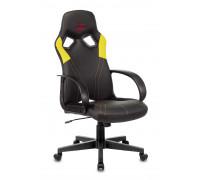 Кресло игровое Бюрократ ZOMBIE RUNNER черный/желтый искусственная кожа