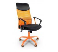 Кресло компьютерное Chairman 610 черный/оранжевый