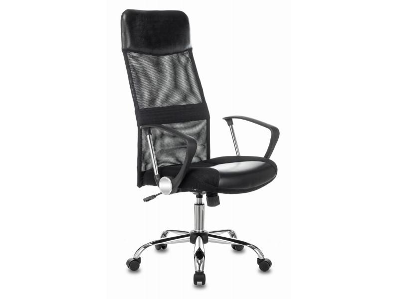 Кресло руководителя Бюрократ CH-600SL черный искусст.кожа/сетка/ткань