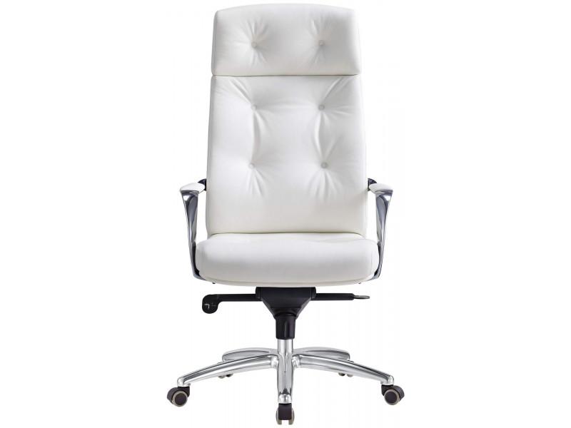 Кресло руководителя Бюрократ _DAO/BROWN белый