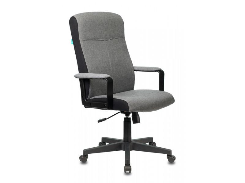 Кресло руководителя Бюрократ DOMINUS серый 10-128 ткань