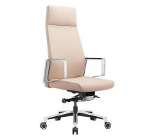 Кресло руководителя Бюрократ _JONS/BEIGE бежевый кожа
