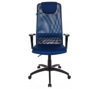 Кресло руководителя Бюрократ KB-8/DB/TW-10N синий