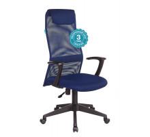 Кресло руководителя Бюрократ KB-8N синий сетка/ткань