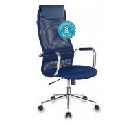 Кресло руководителя Бюрократ KB-9N синий сетка