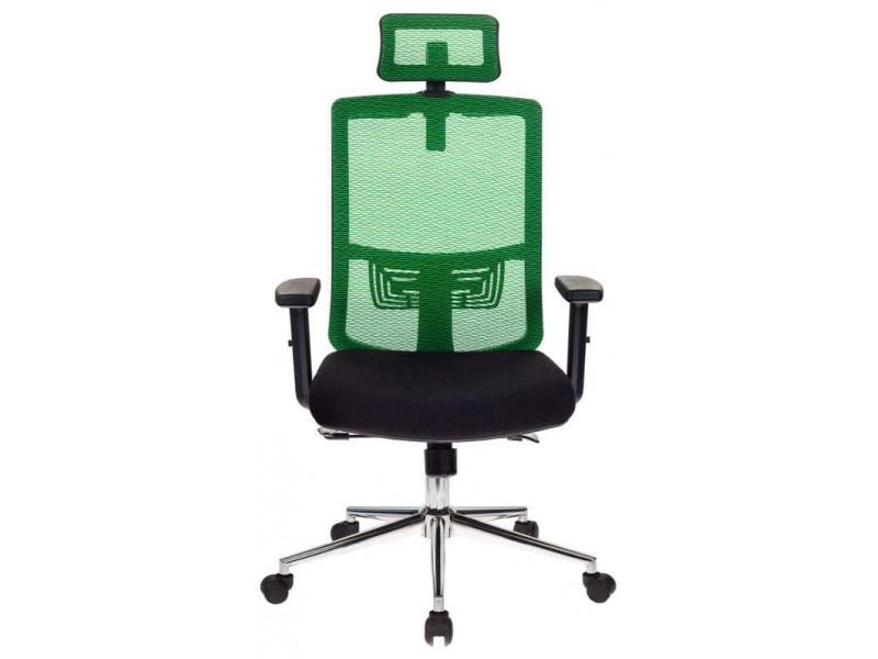 Кресло руководителя Бюрократ MC-612-H/GN/26-B01 черный/зеленый