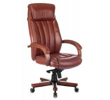 Кресло руководителя Бюрократ T-9922WALNUT коричневый Leather Eichel кожа